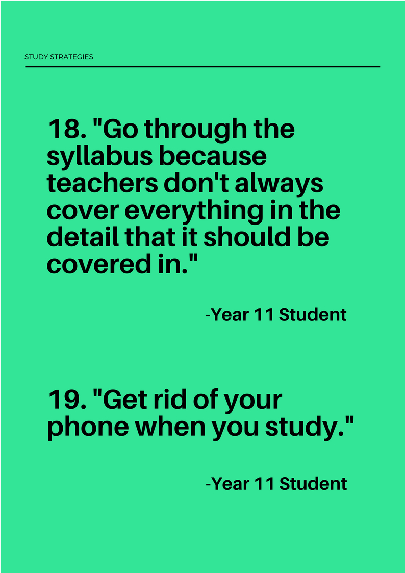 study strategies for exams