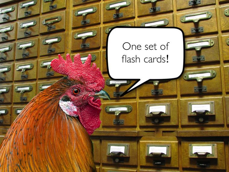 flash cards quality study