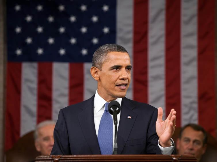 Obama grey suit