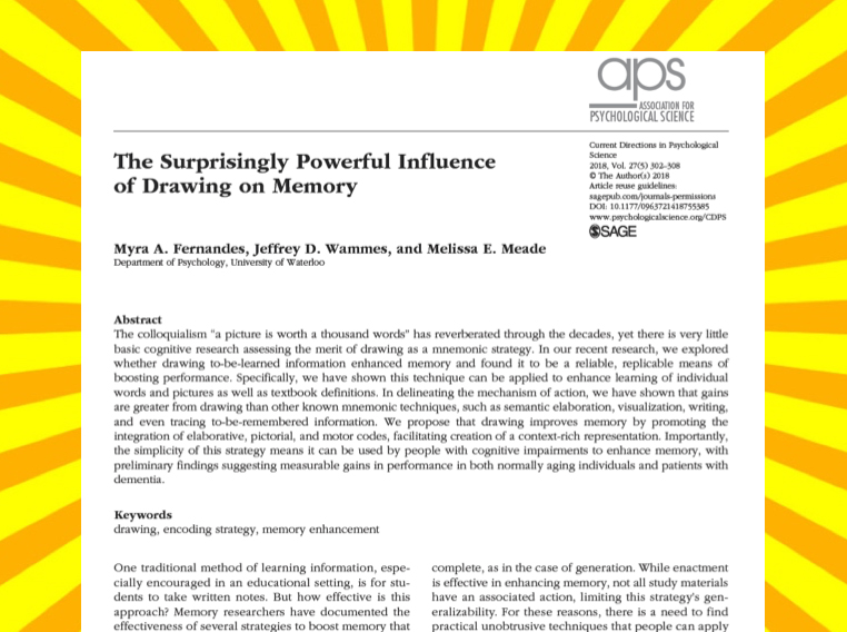 The surprisingly powerful influence of drawing on memory