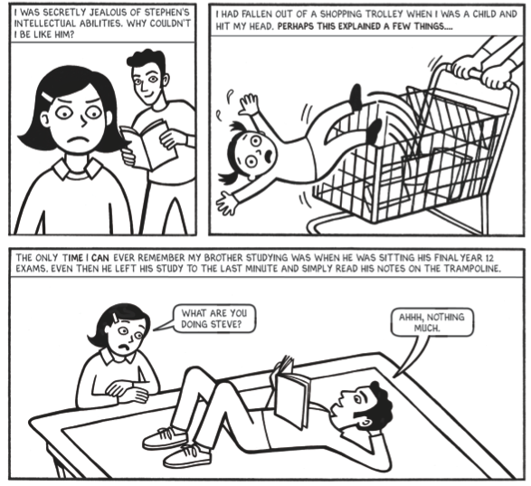 """Excerpt from 'Smart Study: How to Study Less and Get More"""" comic"""