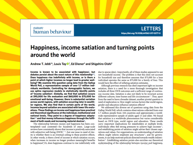 Income and happiness study