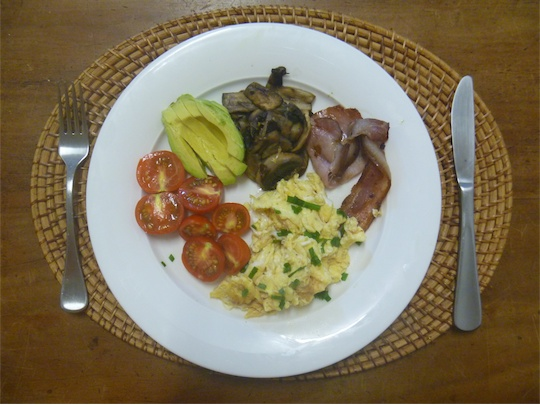 My home cooked breakfast: so simple and delicious!