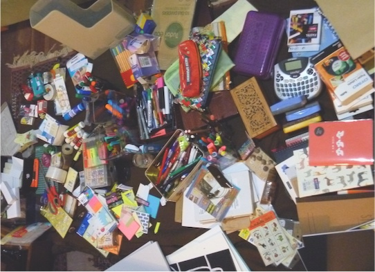 Years of accumulated stationery
